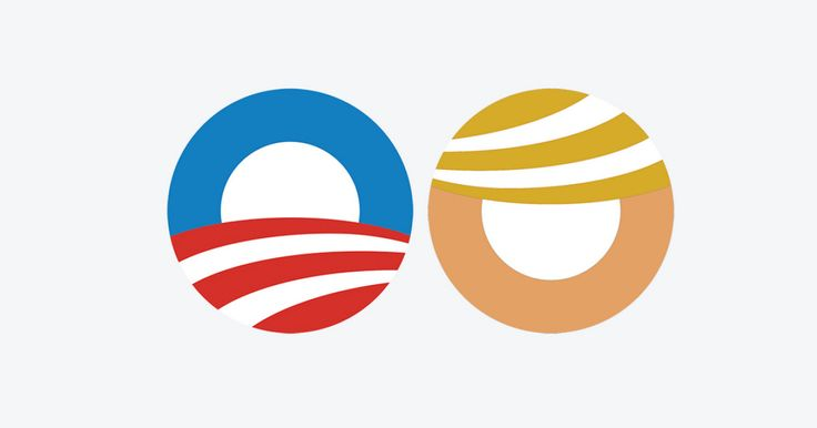 Maybe Trump should just borrow Obama's campaign logo...