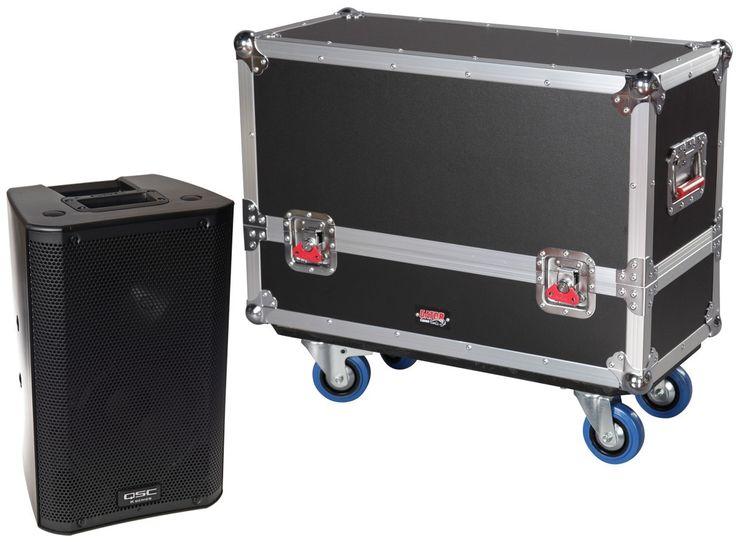 Gator G-TOUR SPKR Series Dual Speaker Wood Flight Case