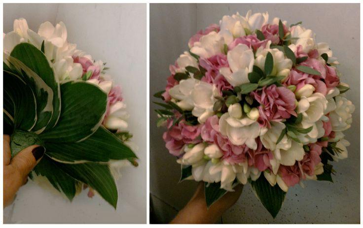 Florist in Rome: Bridal Bouquet - Hortensia & Fresia
