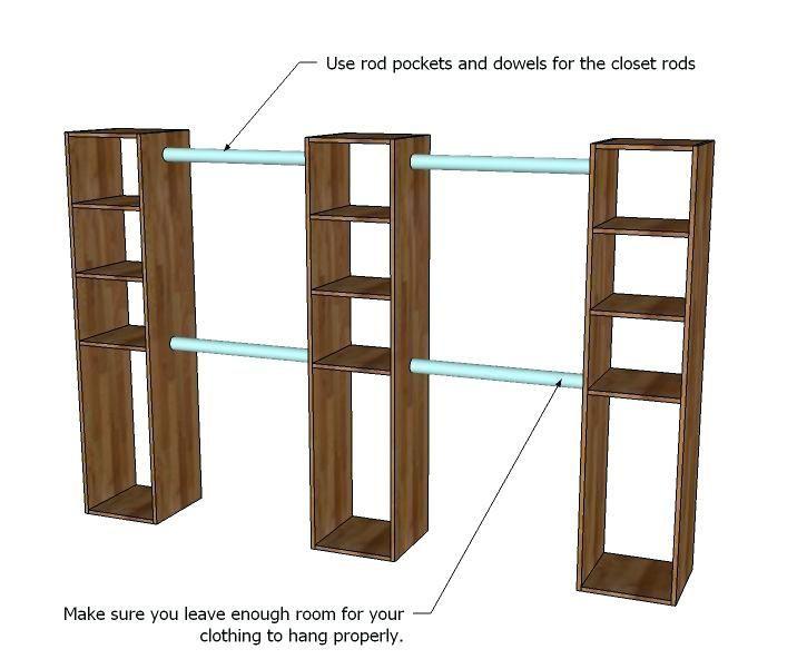 Build Free Standing Closet Best Freestanding Closet Ideas On Hanging Rack For Fo Diy Closet System Closet Remodel Diy Closet