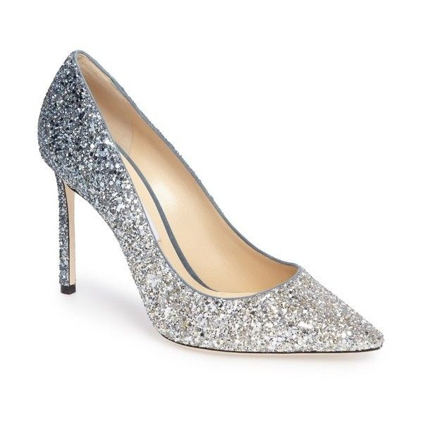 Women's Jimmy Choo Romy Glitter Pump (€575) ❤ liked on Polyvore featuring  shoes
