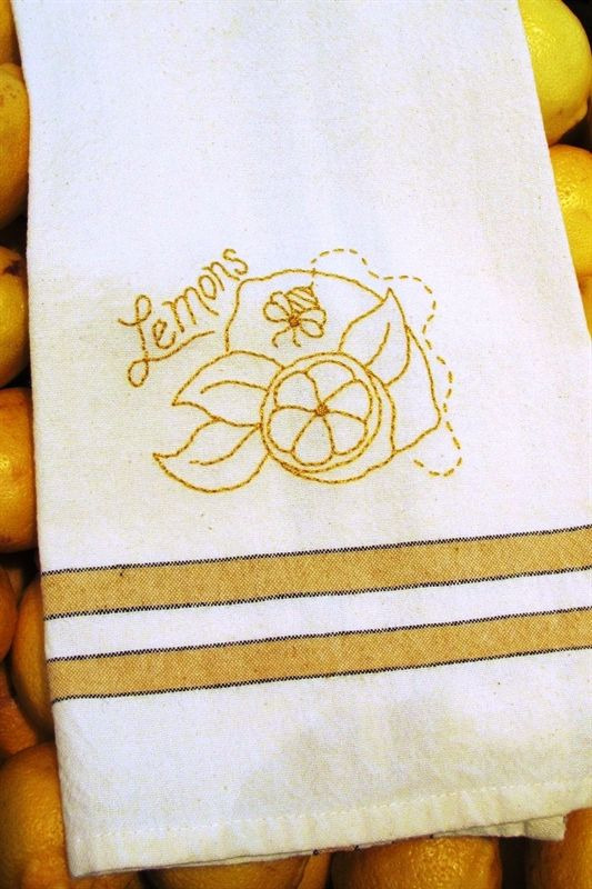 Free Pattern: Tea Towel - Lemons