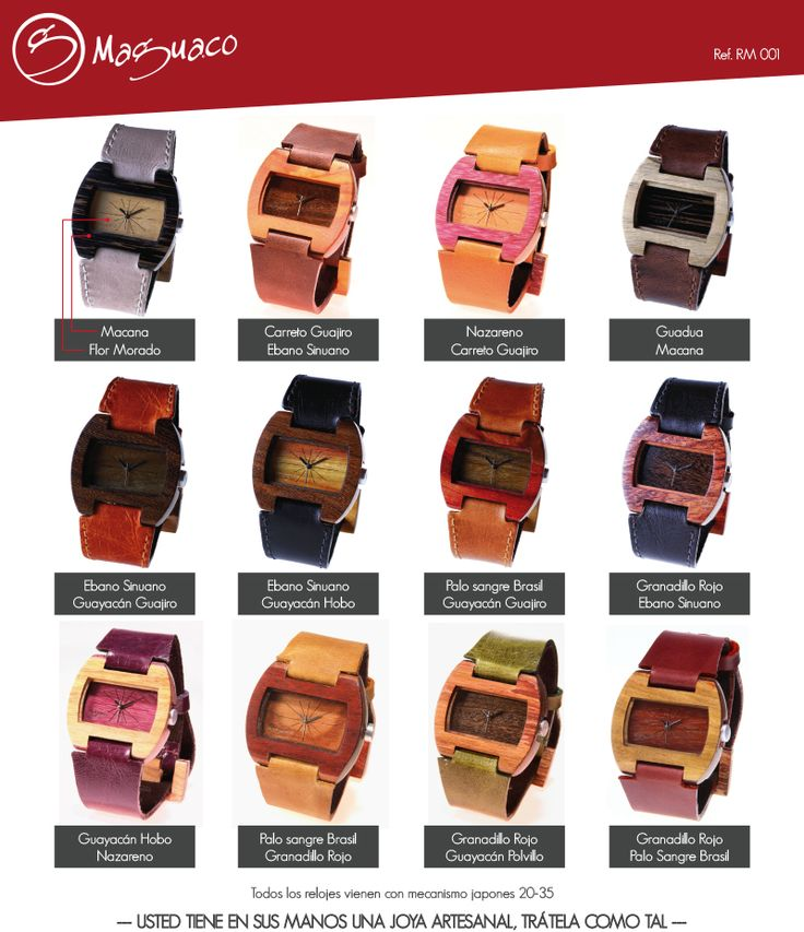 Relojes en Madera marca Maguaco RM001 $170.000