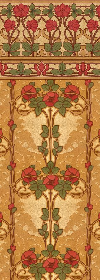 Rose Vine - Historic Wallpapers - Victorian Arts - Victorial Crafts - Aesthetic Movement