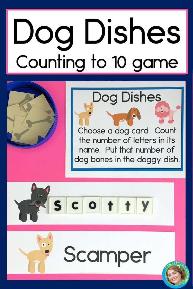 Counting To 10 Game With Dog Dishes Choosing A Dog Dog Names