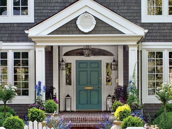 Curb appeal ideas for more street cred stains blue for Blue grey front door