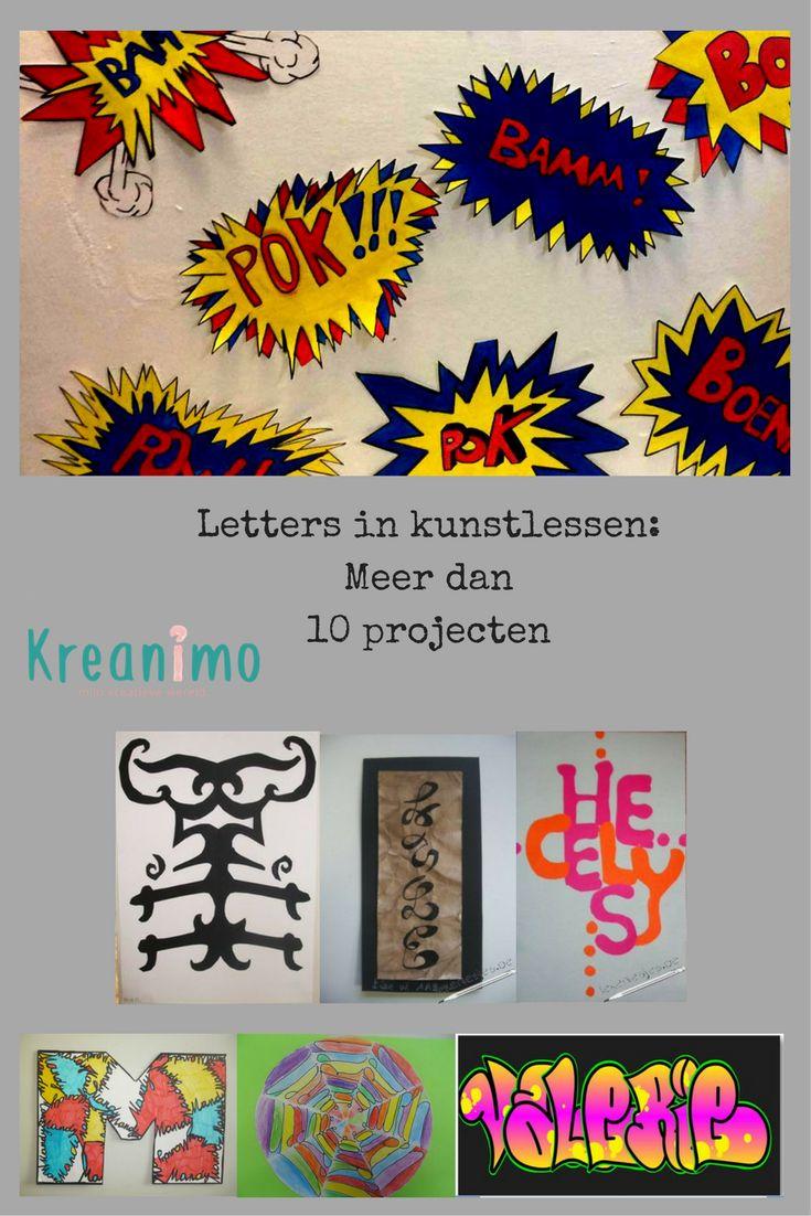 Letters in tekenlessen voor thuis of in de klas - crea-cross https://blog.kreanimo.com/letters-tekenlessen/