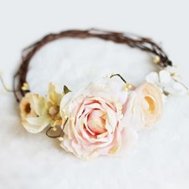 Learn how to make this floral crown using a vine wreath!