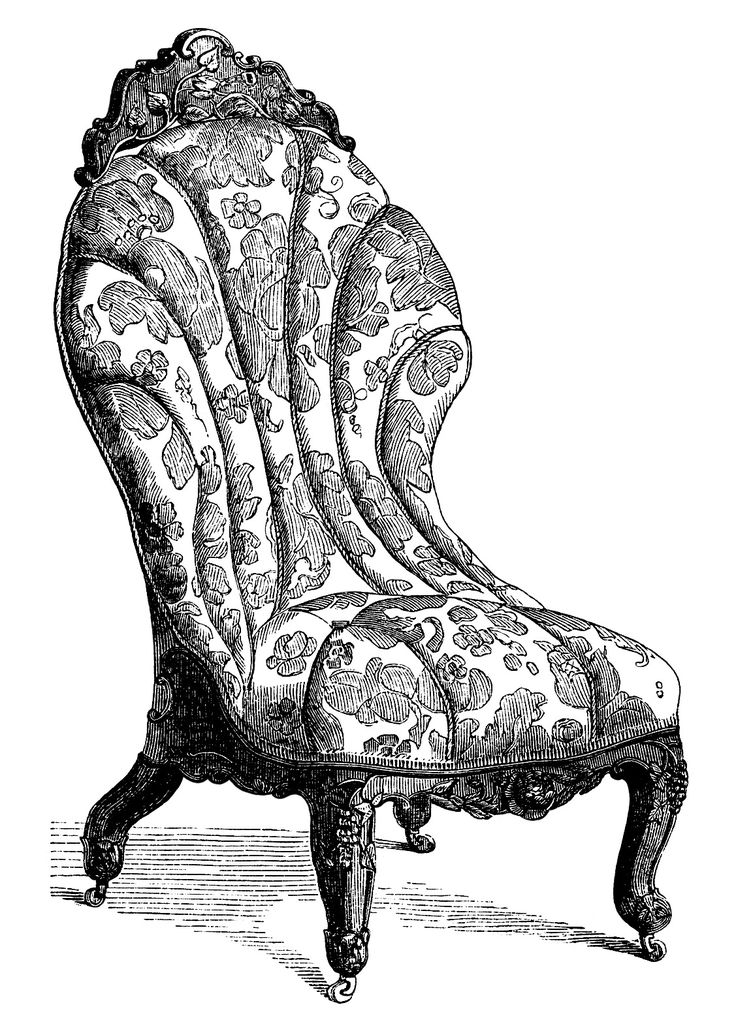Best Victorian Furniture Clip Art Vintage Couch Set Living Room Sofa Engraving Antique Chair 400 x 300