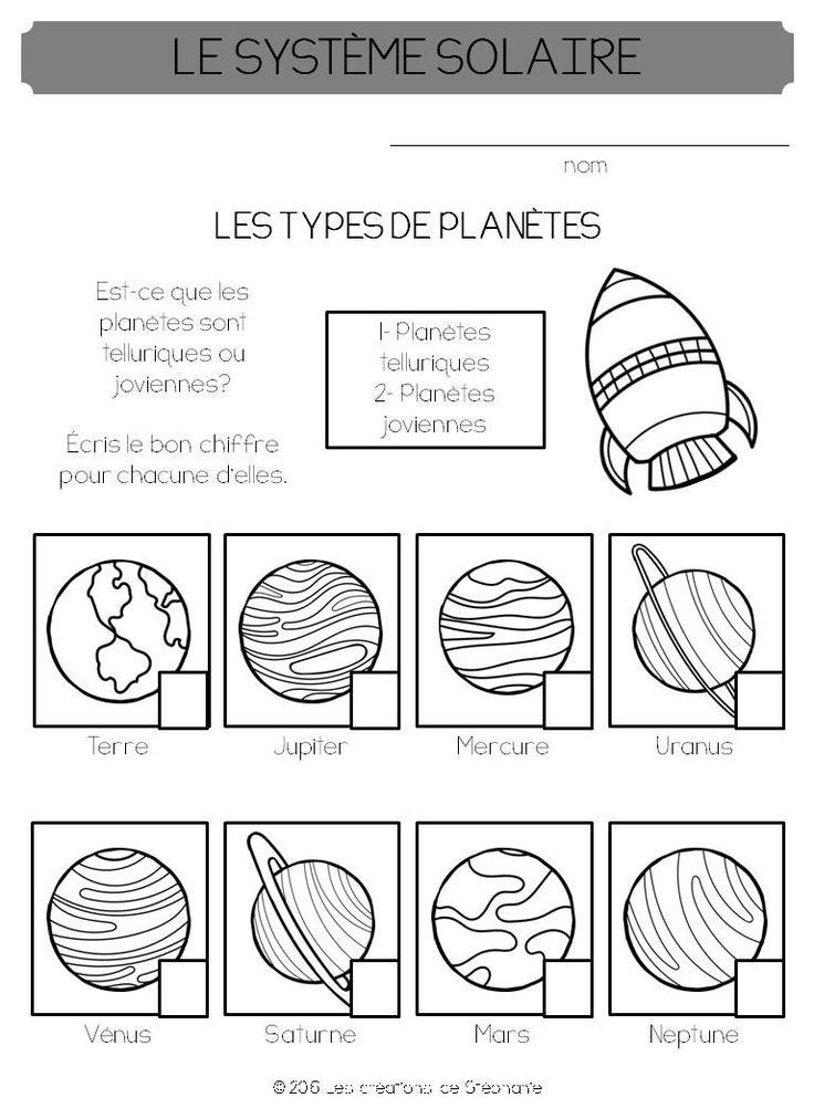 Le système solaire | Les créations de Stéphanie
