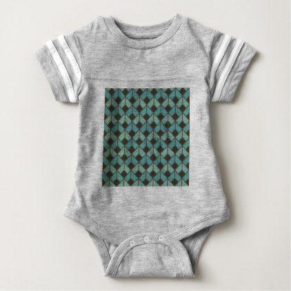 #art deco fan pattern vintage1920 era elegant baby bodysuit - #elegant #gifts #stylish #giftideas #custom