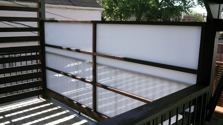 Balcony Privacy Screen Urban Landscape Design