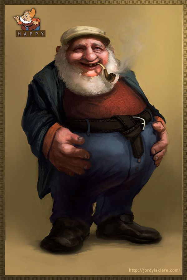 If Disney's 7 Dwarves Were Real Men - Happy