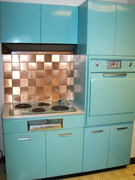 1950's General Electric Kitchen. Metal Cabinets, Oven And