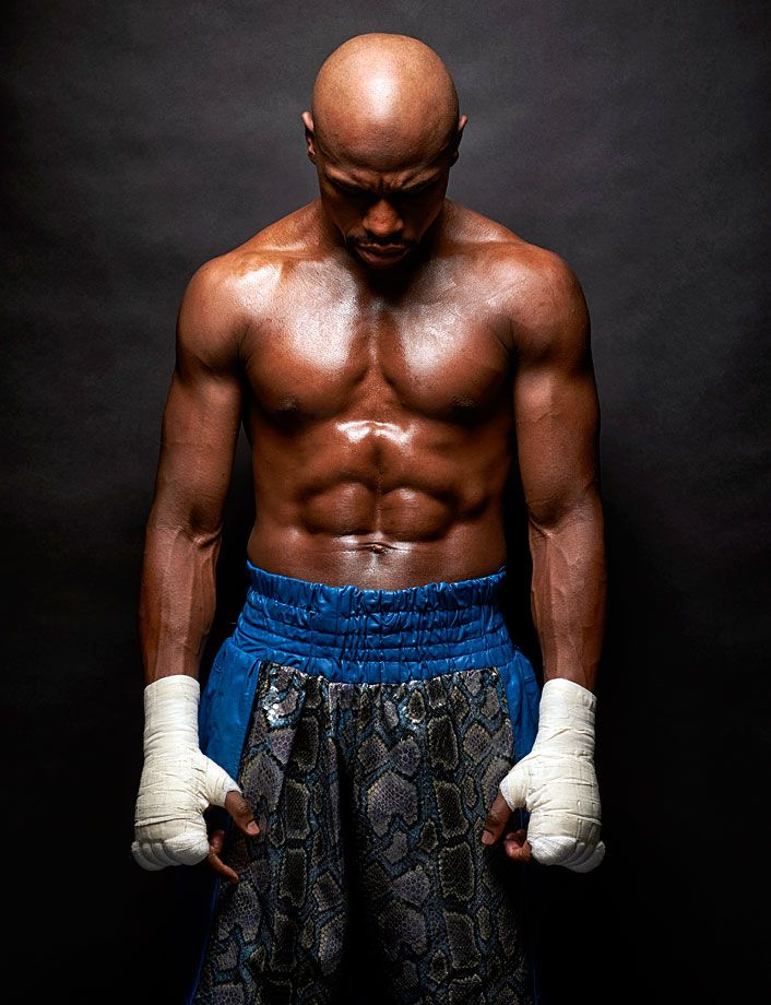 "Floyd Mayweather Jr. poses for a portrait on April 17, 2015 while training for the ""Fight of the Century"" against Manny Pacquiao in Las Vegas. The undefeated (49-0) and retired professional boxer turned 39 years old on Feb. 24, 2016. (Simon Bruty for SI)"