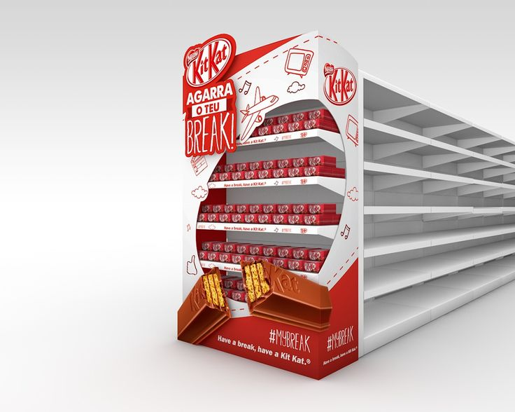 POS materials proposal for Kit Kat 'Have a Break' campaign.