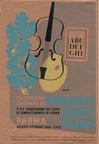 """Tavola allegata al numero speciale di arte grafica """"Bodoni"""", Progetto grafico di Carlo Dradi, (1908 - 1982), Attilio Rossi, (1909 - 1994)."""