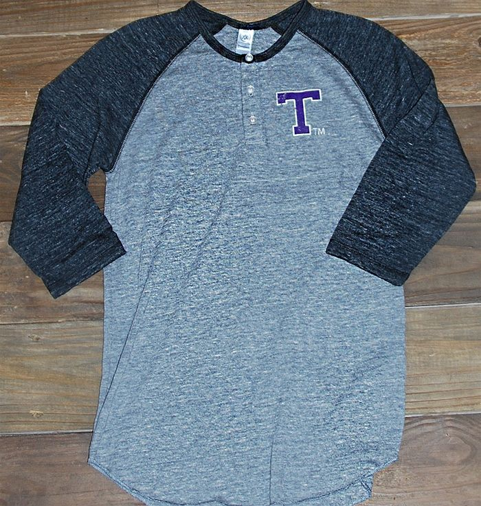 This Tarleton color-blocked henley is perfect for every TSU Texan fan. Great for tailgating and game time! Bleed Purple!