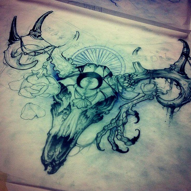 Longhorn Tattoo #skull
