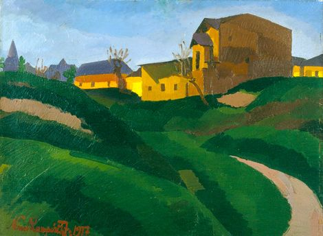 József Nemes Lampérth, On the Slopes of Gellért Hill (1917) on ArtStack #jozsef-nemes-lamperth-1 #art