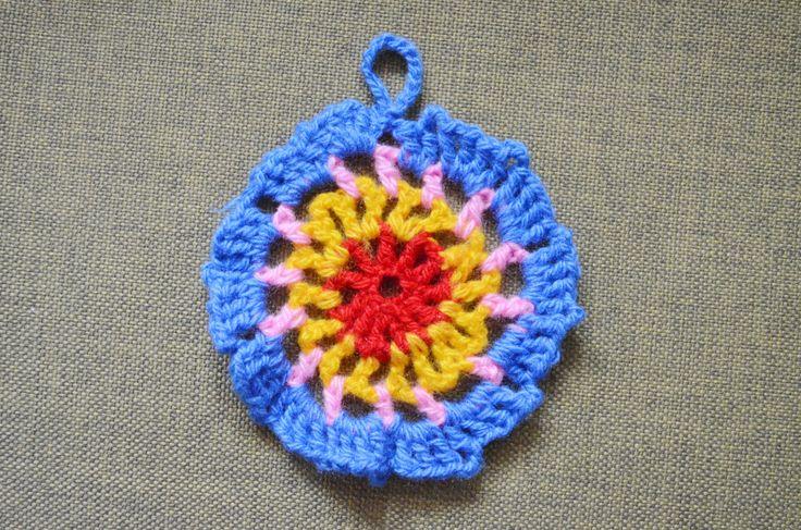 Crocheted Knited Napkins decor coaster handmade acrylic by AnnaWeissArt on Etsy