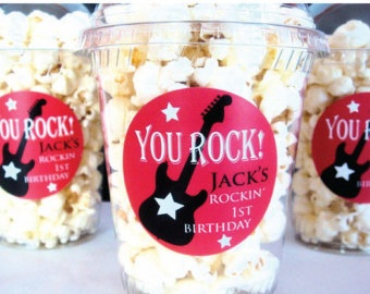 rock and roll birthday party favors - Google Search
