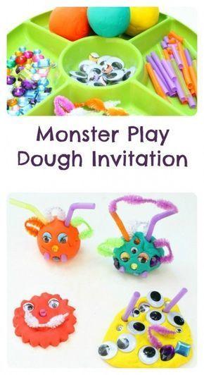 Monster Play Dough Invitation