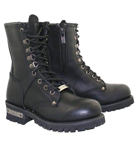 Xelement 2446 'Vigilant' Women's Black Logger Boots with Inside Zipper