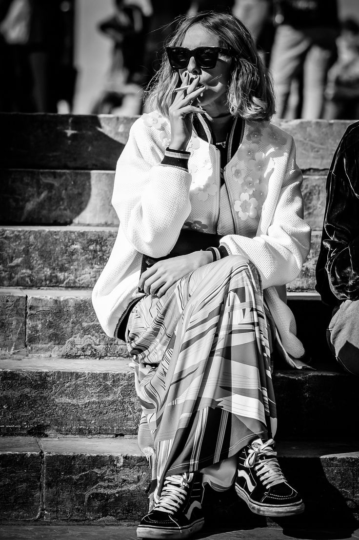 Model & Influencer Candela Pelizza outside the Grand Palais