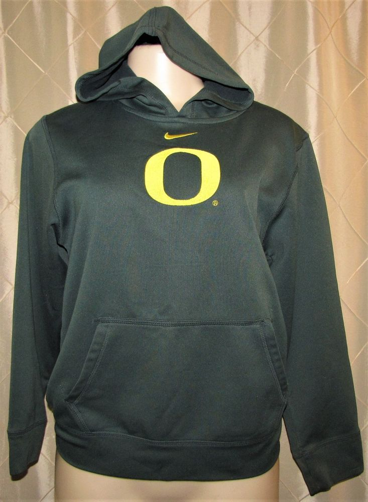 Nike therma fit hoodie oregon ducks ncaa green youth kids