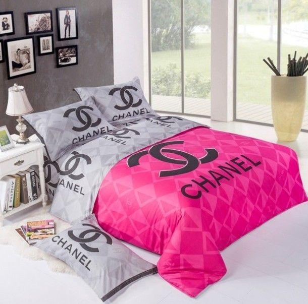 Chanel Bedding 3 Luxurybeddingtravel Chanel Bedding Chanel Room Chanel Bedroom
