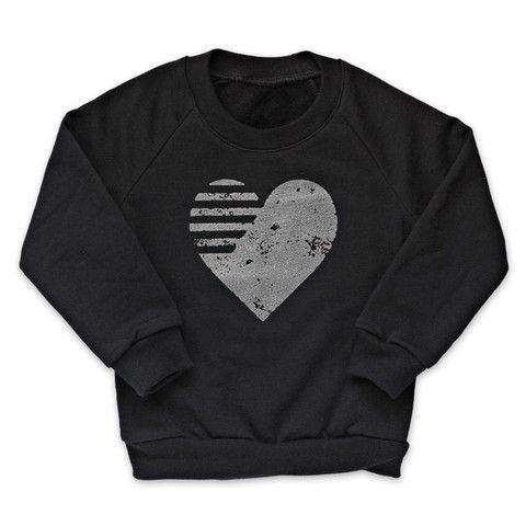 Quicksilver Graphic Heart Fleece Pullover
