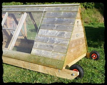 Poulailler Mobile, Chicken Tractor, Les roues !