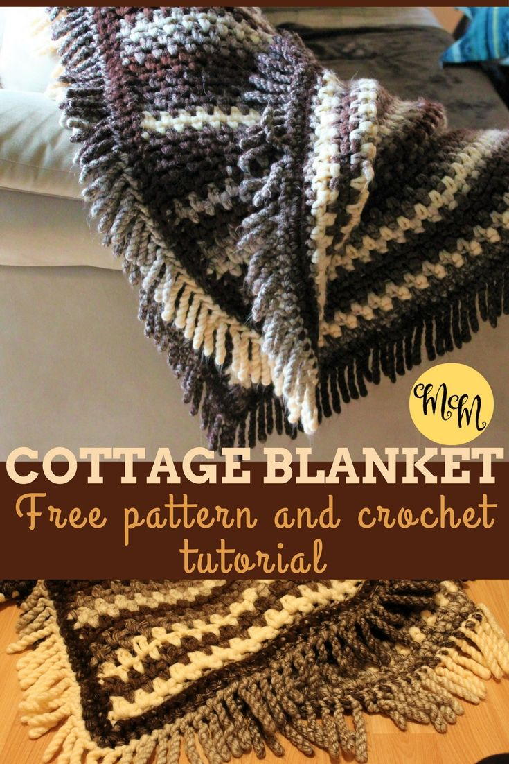 Crochet this beginner level cottage blanket with my step-by-step tutorial and FREE pattern!