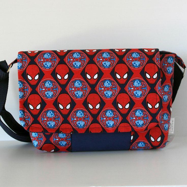 superman messenger bag - handmade in peth