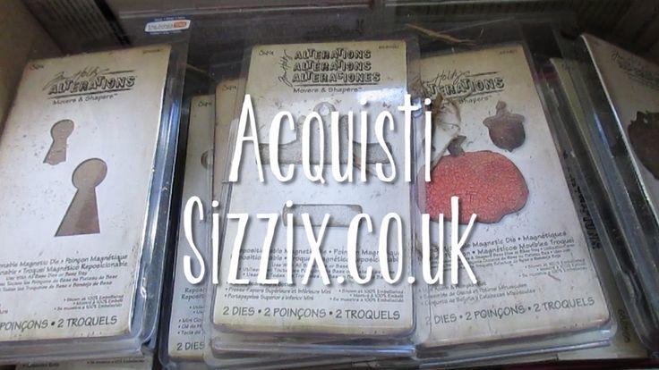 Ordine di fustelle dal sito Sizzix.co.uk - unboxing - La collezione cresce!