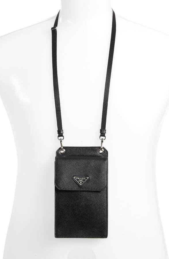 41469063f1d6 Over Neck Travel Wallet #pradatravelwallet   Wallets   Mens fashion ...