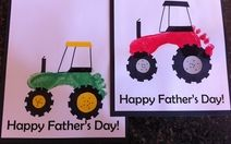 Footprint tractor - Fathers' Day card