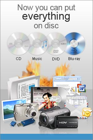 Express Burn Disc Burning Software-Burn Audio, Video and Data to CDs, DVDs & Blu-ray Discs. Burning software to create and record discs quickly and easily on Windows or Mac. Ultra fast burning to save you time. Burn audio, video or files to CD, DVD or Blu-Ray. Drag and drop files straight into the application. Audio is recorded with direct digital recording so perfect audio quality is maintained. Video files are re-encoded for standard movie discs.