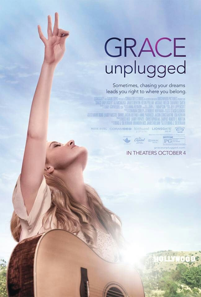 Grace Unplugged- movie coming to theaters in October! Stars AJ Michalka, Jamie Grace, and a whole slew of Christian actors! Great movie for teen girls!