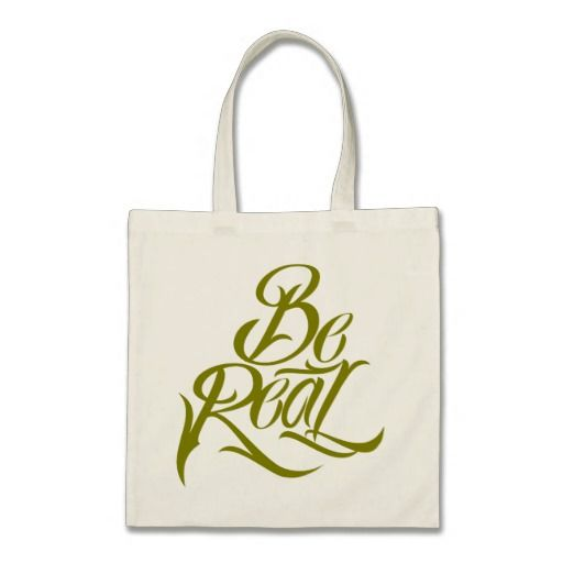 Be Real Tote Bag #motivational #lettering #LetterHype
