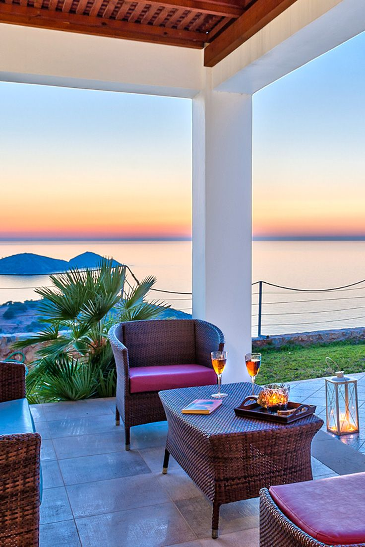 Enjoy the sunset at Ocean Luxury Villas in Bali, Rethymno #crete #sunset #villa #TheHotelgr #travel