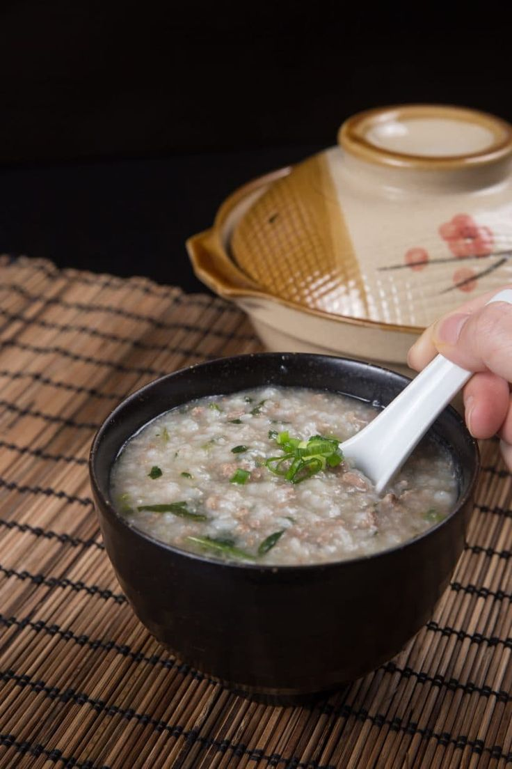 instant pot congee with minced beef  recipe  instant pot