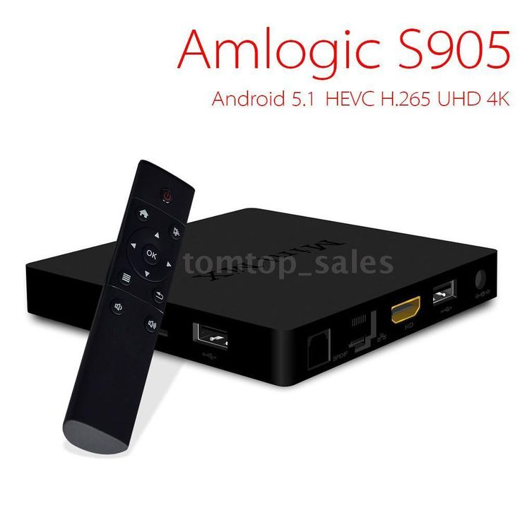 ★★★★★ Mini MX Amlogic S905 Android 5.1 Smart TV BOX Quad Core Kodi XBMC WiFi 4K 2GHz 64-bit Multi language Internet Media Player, UHD 4K*2K and Full HD 1080P, With Remote Controller. Gives you access to many apps including Facebook, Youtube, Netflix, XBMC, Hulu, etc