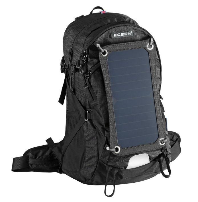 Mochila solar trekking hombre 45L con vejiga 2L