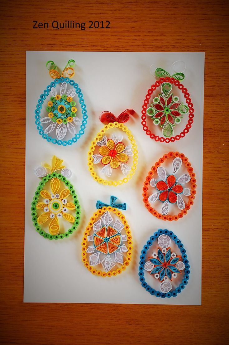 2012 Easter 2D eggs/My own original designs - Facebook.com/Zen Quilling