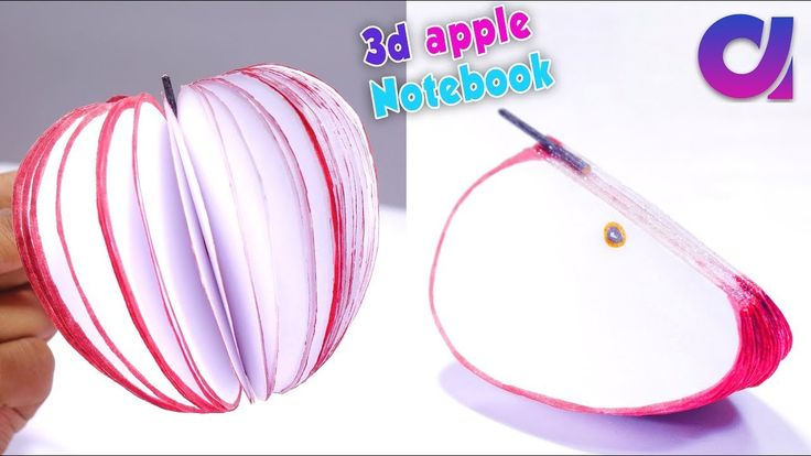 How to make 3d apple notebook tutorial | diy apple Notepad Made with Paper | Artkala 253