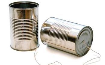 Tin Can telephone-way more interesting than walkie talkies!