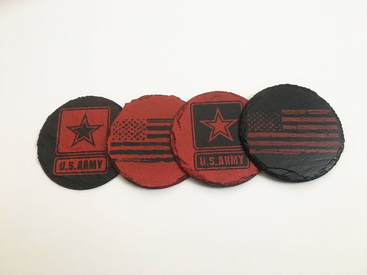 This #DeploymentDecor is the perfect gift for your soldier!  US Army Decorations, Military Deployment Coaster Set, Gift For Deployment, US Army Gift, Home Decor, Army Wife