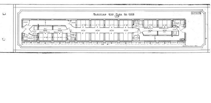 Passenger Train Sleeping Car  Cutaway Illustration